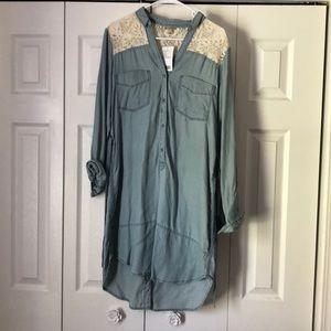 Anthropologie denim chambray dress